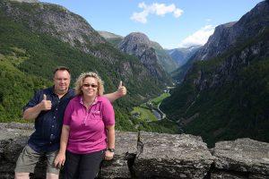 Martina und Helmut in Norwegen