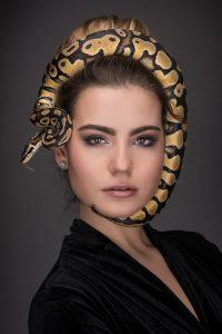 Snake on Face